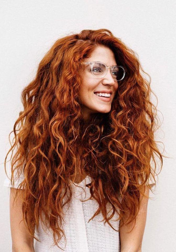 Schlichte Schicke Frisuren Haar Styling Lockige Rote Haare Naturlocken Frisuren