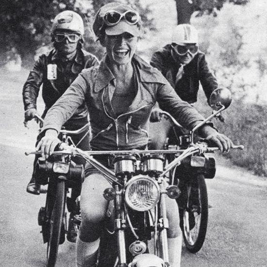 Brigitte Bardot on a motorcycle. #Style #Fearless #Fun