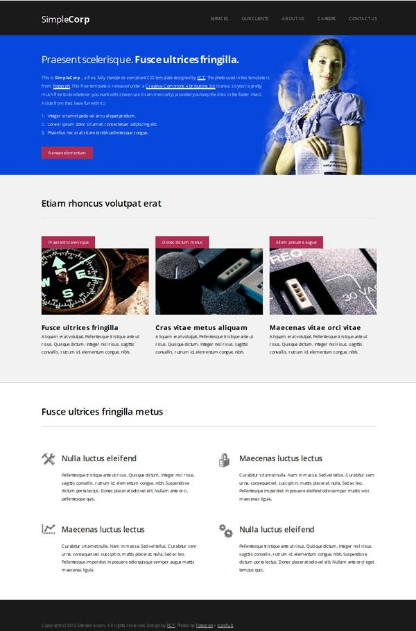 9 best Free Dreamweaver Mobile Friendly Web Templates images on ...
