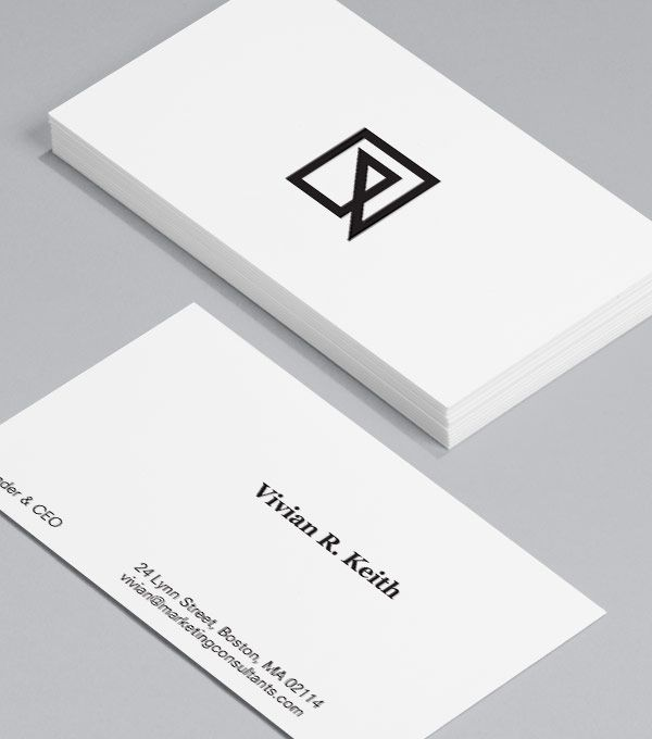 Crisply Done: this crisp, confident design gives your business's branding top priority, with the freedom to add your unique logo to the front. #moocards #businesscard