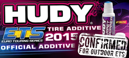 HUDY Tire Additive #106260 was confirmed by the ETS organiser as the official Tire Additive for the ETS outdoor 2014-2015 season.