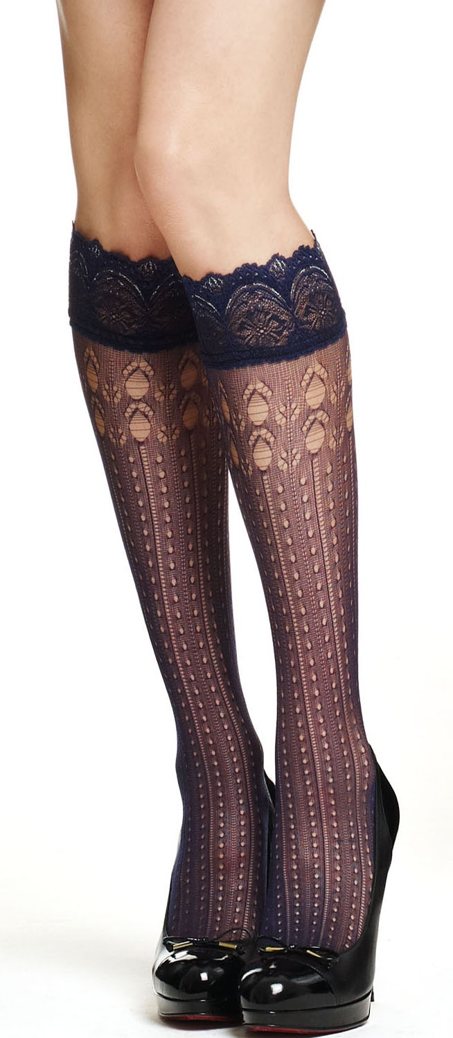 Embrace lace with a pair of L'AMOUR knee highs! Pure Seduction.Knee High
