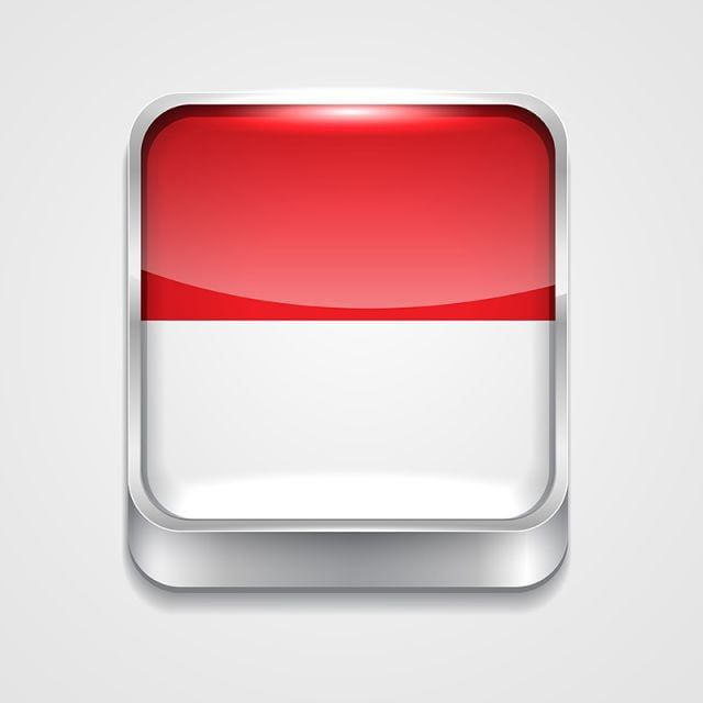 Flag Of Indonesia 3d Button Badge Png And Vector With Transparent Background For Free Download Backdrops Backgrounds Indonesia Flag Flag Background