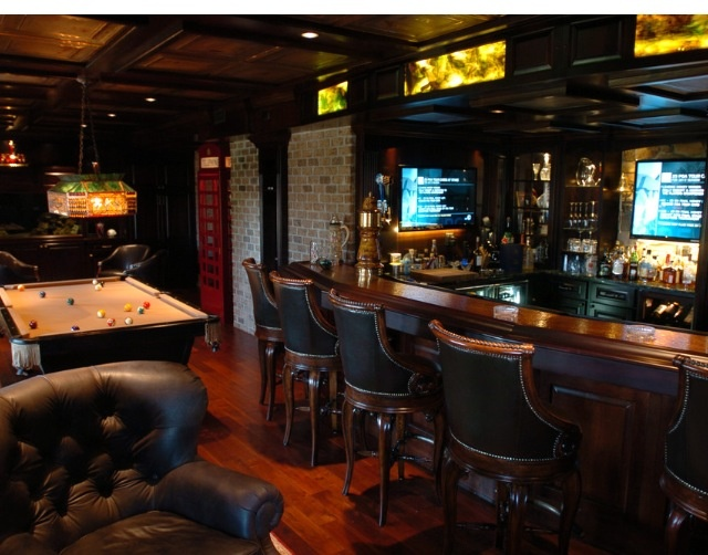 Elegant Basement Sports Bar
