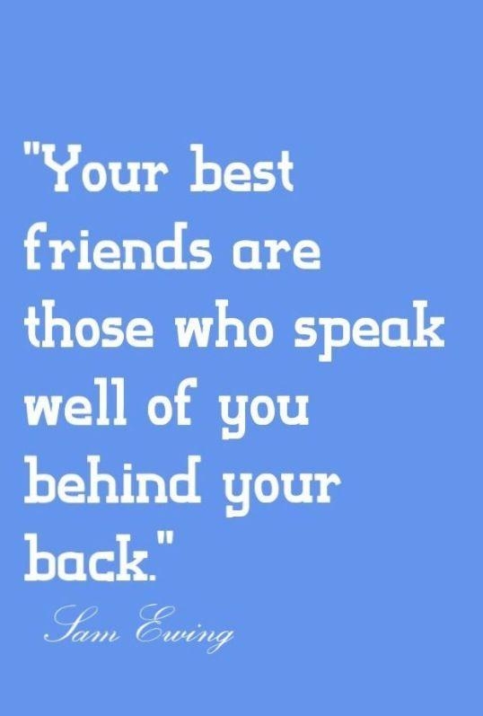 friends behind