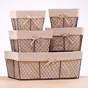 Charlotte Lined Wire Baskets Charlotte Lined Wire Baskets