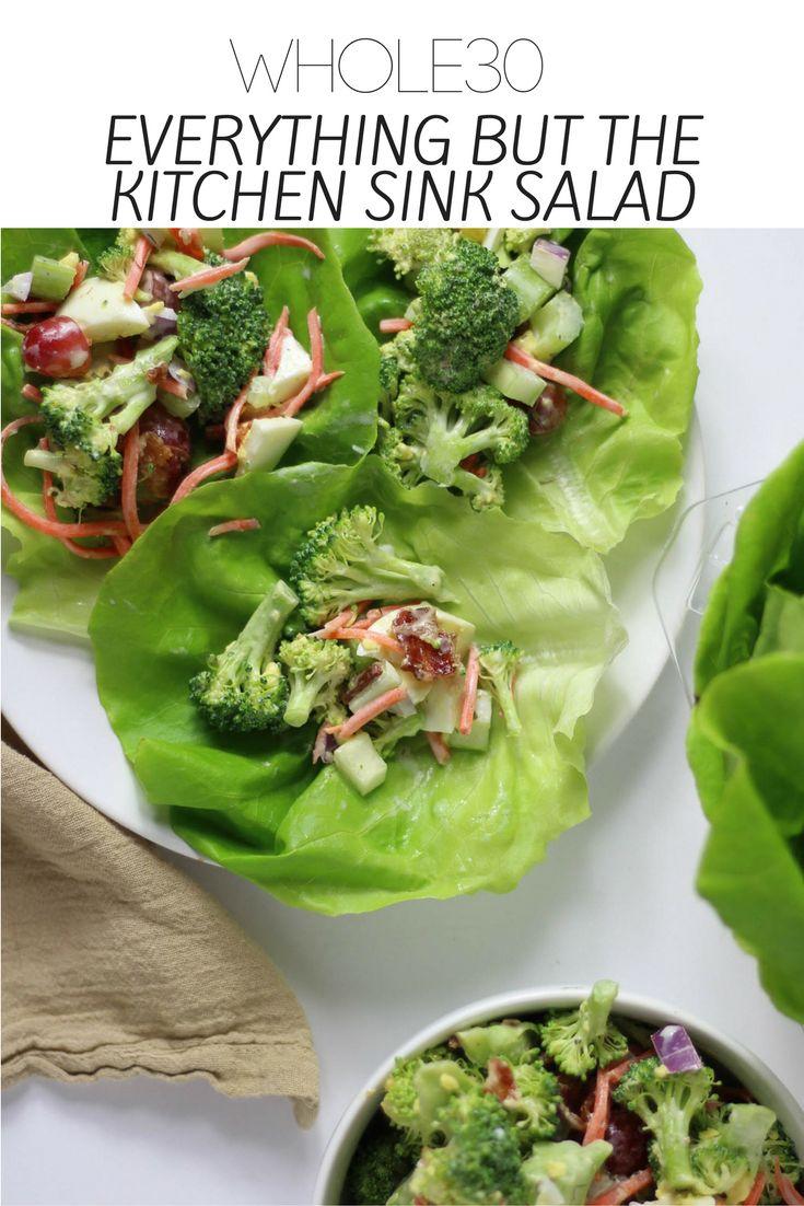 Whole30 Broccoli Crunch Salad Nyc Restaurantskitchen Sinkssalad