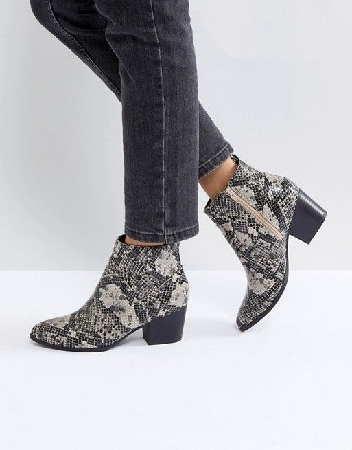 6e3256444fd New Look Snake Print Western Boot in 2019 | Window Shopping | Boots ...