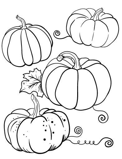 free pumpkin vine coloring pages - photo#31