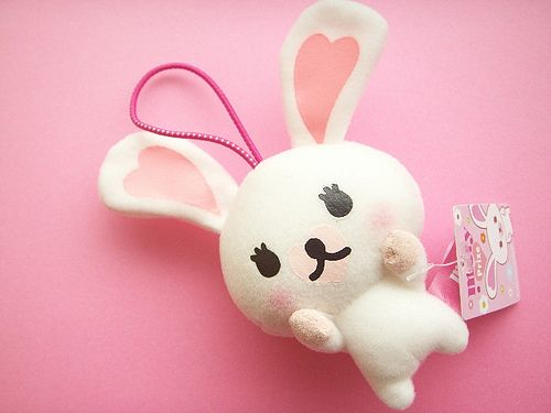 Kawaii Mascot Mini Plushie Bunny Rabbit Doll Mofy Cute Toy Japan by Kawaii Japan, via Flickr