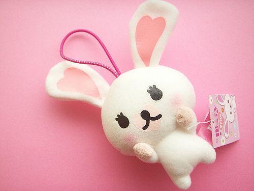 Kawaii Mascot Mini Plushie Bunny Rabbit Doll Mofy Cute Toy Japan by Kawaii Japan, via Flickr