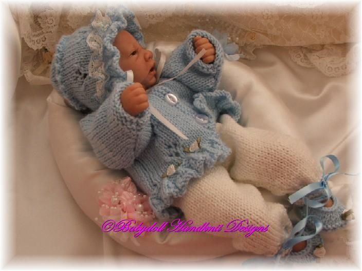 Frilled Jacket & Pants, for premature babies and can be made of dolls. free pattern
