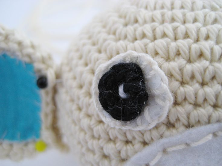 Oczka amigurumi z filcu i włóczki