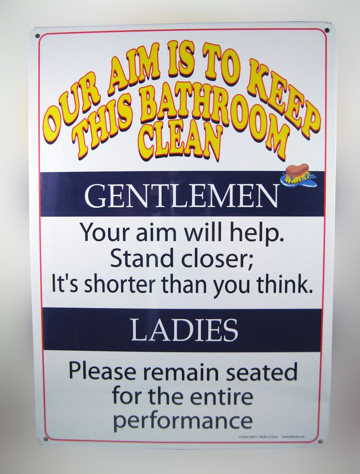 """KEEP THIS BATHROOM CLEAN TIN SIGN..... A crazy """"Bathroom"""" notice that is hilariously funny. 8 1/4 x 11 1/2 tin sign that looks great in any bathroom. Entertain your guests and family. www.theonestopfunshop.com"""