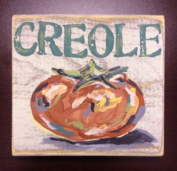Creole Tomato Wood Sign New Orleans Gift Kitchen Art