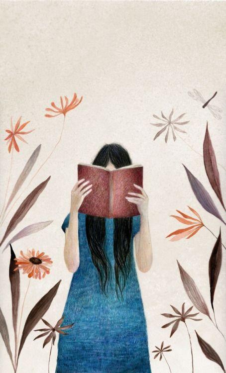 Aventuras que te atrapan: leyendo (ilustración de Silvia Goig)