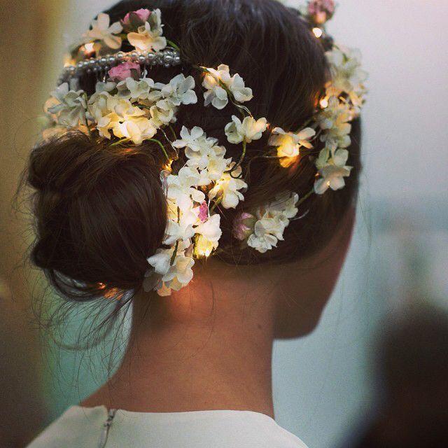 flowery hairdo