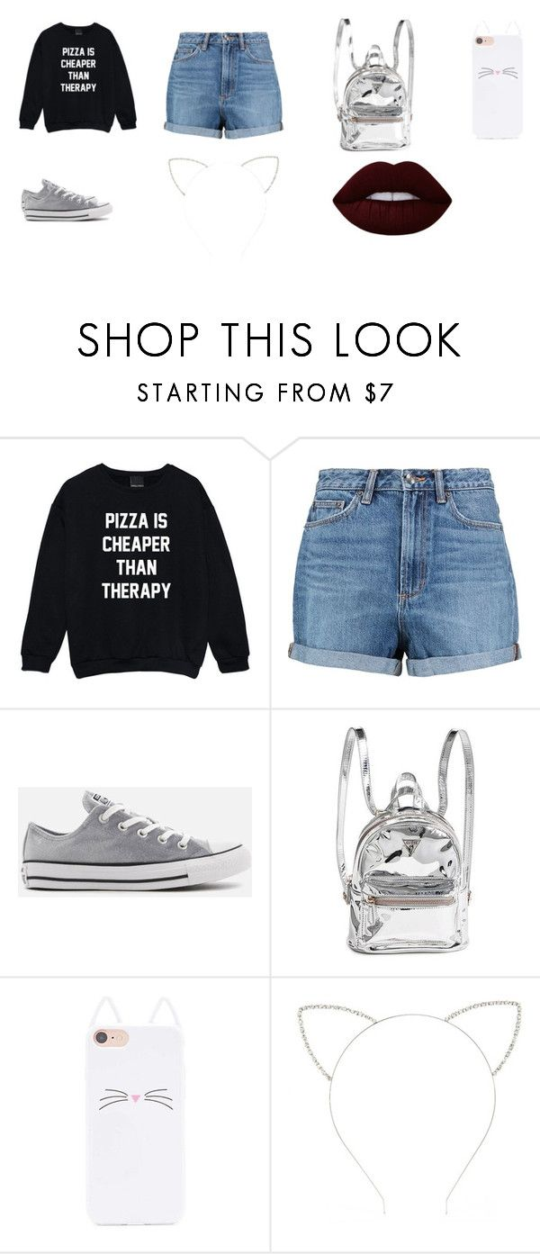 moda by lucianatorrez on Polyvore featuring moda, Marc by Marc Jacobs, Converse, Forever 21 and Lime Crime