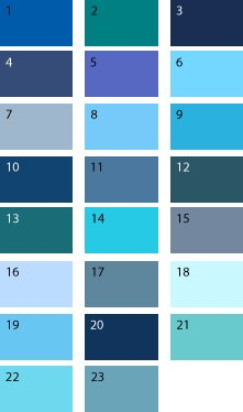 Синие оттенки для цветотипа осень