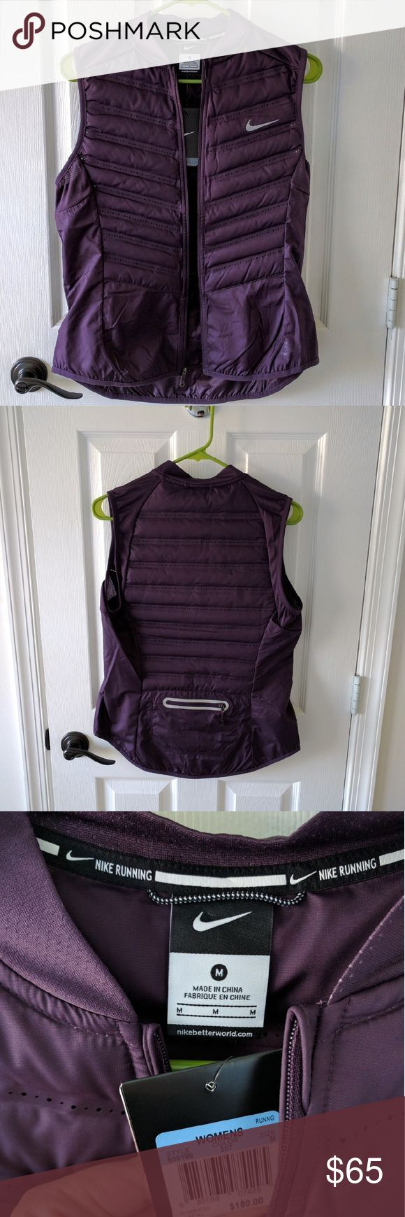 Nike running vest. 800 fill down. NWT Gorgeous plum vest. Super light weight. 800 fill down!. Nike Jackets & Coats Vests