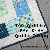 100 Quilts for Kids Quilt Along (and free pattern). Donating quilts to kids on our communities.