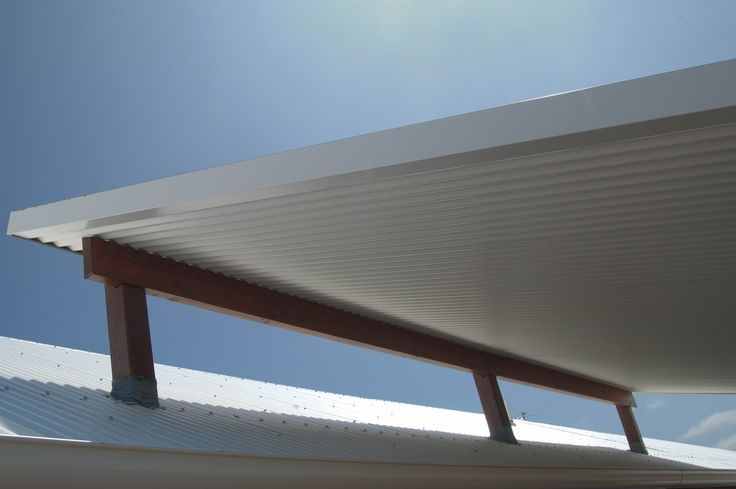 Add a roof to your deck with a flyer over roof.  Ritek Roof Panels are an ideal solution for this application with their thermally insulated panels.