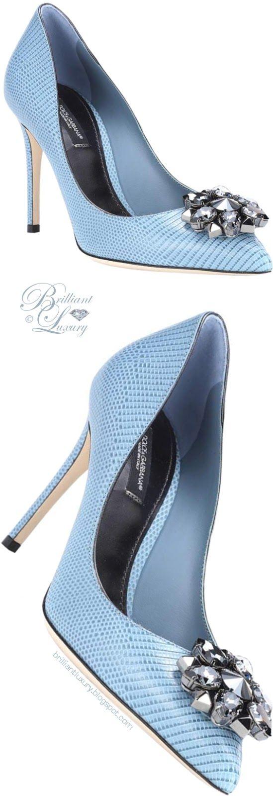 Brilliant Luxury ♦ Dolce & Gabbana Bellucci Embellished Leather Pumps