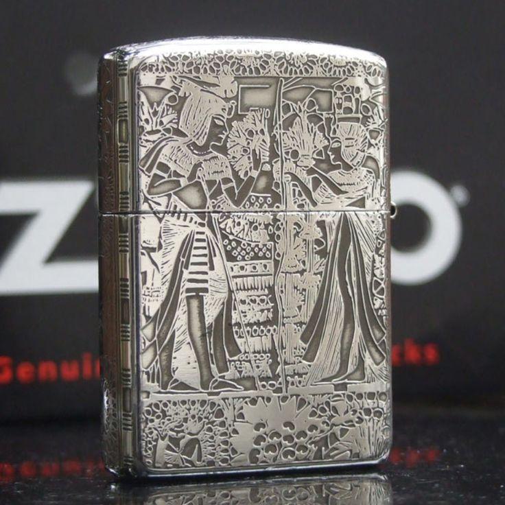 Regular Zippo Sterling Silver Culture of Egypt Lighter