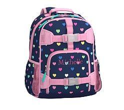 Small Backpack Mackenzie Navy Multi Heart Small