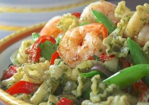 Pasta Salsa Verde with Shrimp -   There are two well-known classic salsa verde recipes: This is the Italian version made with parsley, capers lemon and anchovy. Anolon.com