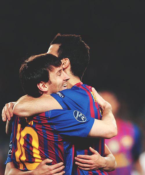 Lionel Messi and Cesc Fabregas