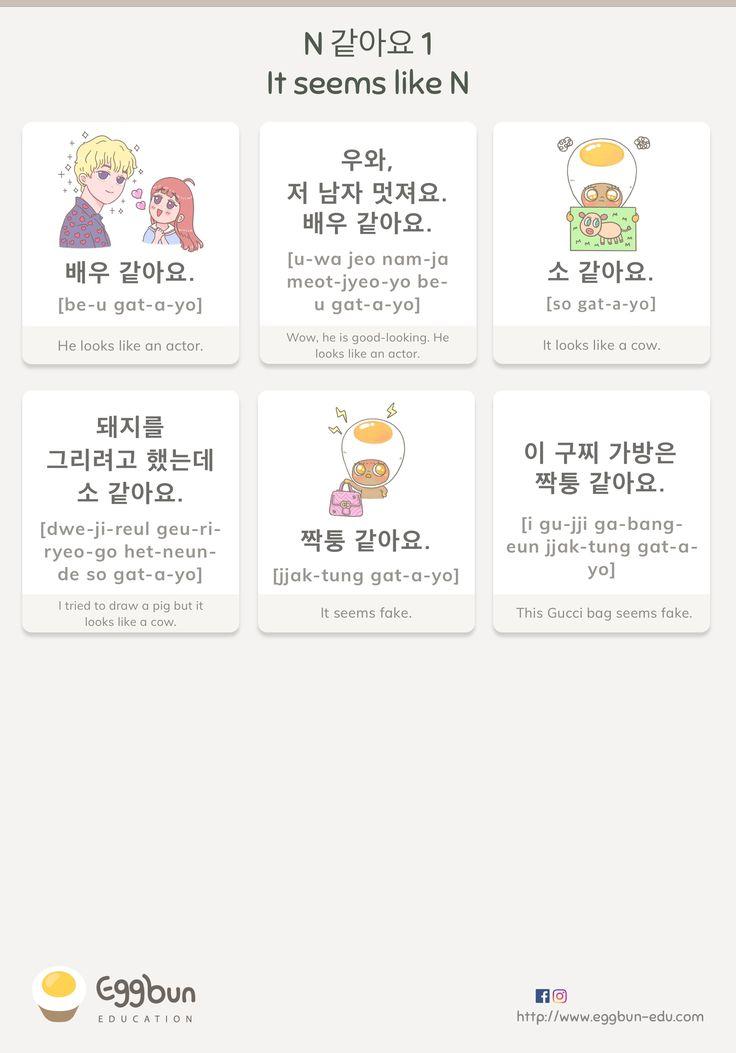 N+같아요 : It seems like+N Chat to Learn Korean…