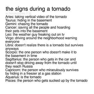 'Is the tornado'.... yeah, probably