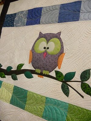 Katie's Quilts and Crafts: Halloween and Owl Baby Quilt