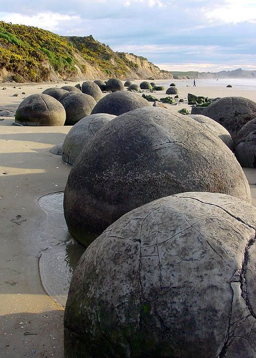 The Moeraki Boulders on Otago Coast, New Zealand (by Nina).