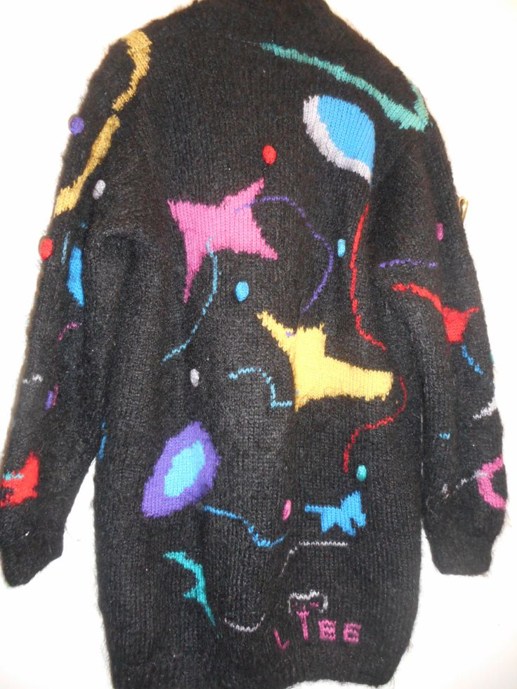 1980's Funky hand-knit by recycology on Etsy