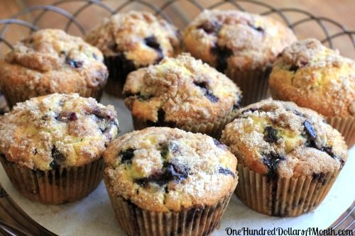 Blueberry Muffins with Crumb Topping. Once you have tried this recipe for blueberry muffins, you will never try another blueberry muffin recipe again. I ate 2 of these muffins as I was typing this up. Seriously, they are that good. Ingredients 1 1/2 cups all-purpose flour 3/4 cup sugar 1/2...