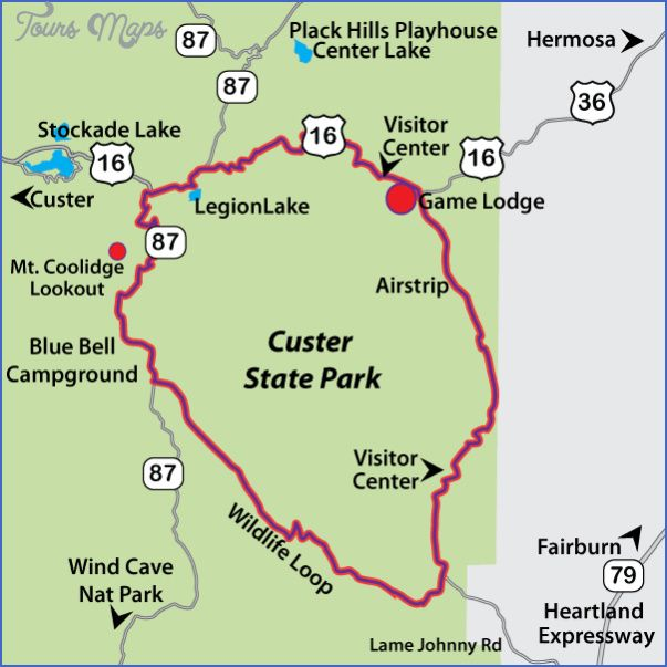 CUSTER STATE PARK MAP SOUTH DAKOTA Tours Maps Pinterest - Sd state map