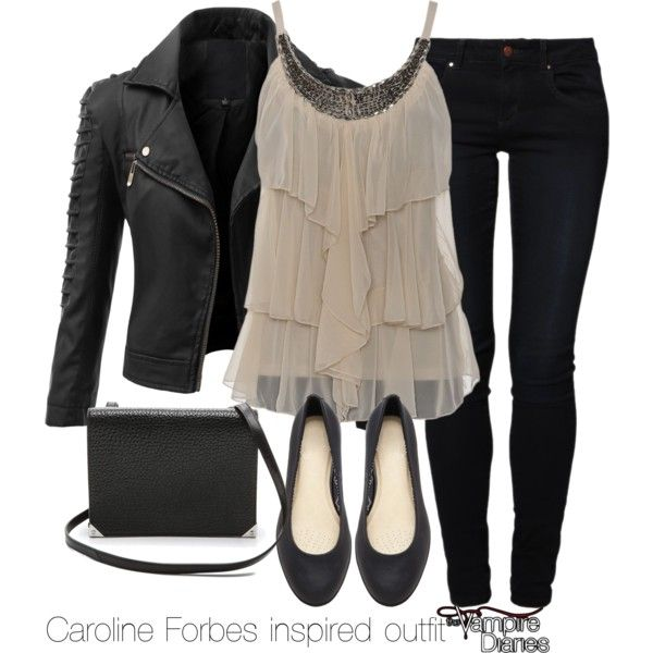 """Caroline Forbes inspired outfit/The Vampire Diaries"" by tvdsarahmichele on Polyvore"