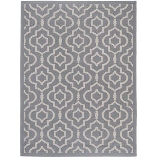 Shop for Large Safavieh Indoor/ Outdoor Courtyard Anthracite/ Beige Rug (8' x 11'). Get free shipping at Overstock.com - Your Online Home Decor Outlet Store! Get 5% in rewards with Club O!