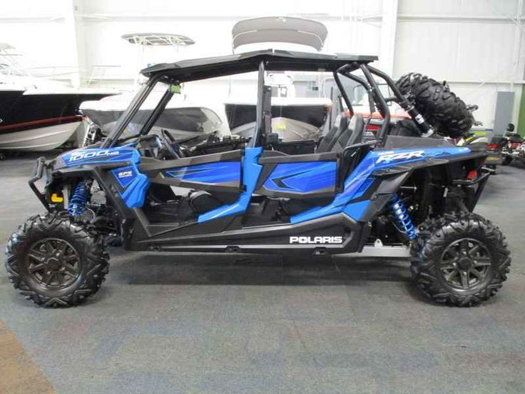 New 2015 Polaris RZR XP 4 1000 EPS Voodoo Blue ATVs For Sale in Michigan. 2015 Polaris RZR XP 4 1000 EPS Voodoo Blue, NICE 2015 POLARIS RZR XP 1000 EPS 4-SEATER WITH ONLY 663 MILES AND FACTORY WARRANTY THRU 3-30-2017! Optional equipment includes: full windshield, Polaris poly roof, spare tire w/roll bar mount, lock-n-ride storage box, front and rear bumpers, and rear-view mirror. Features include: 110 hp/999cc ProStar 1000 H.O. liquid-cooled EFI engine, automatic PVT transmission with…