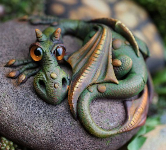 OOAK dragon sculpture by feythcrafts on Etsy, $45.00