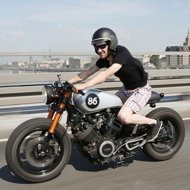 @caferacergram  by CAFE RACER #caferacergram # This guy needs a pair of…
