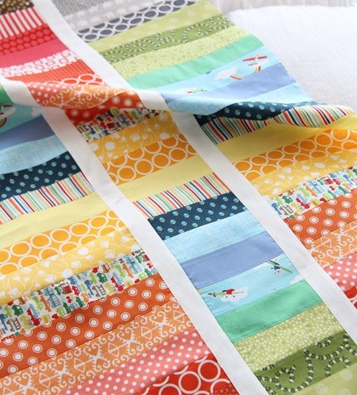 Strip and Flip Rainbow Quilt Tutorial