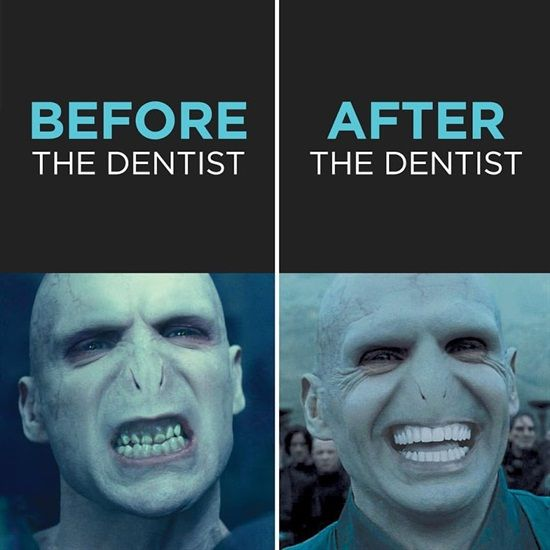 "Sorry Harry, even ""You-Know-Who"" looks nicer with a smile. Dentaltown - Dentally Incorrect"