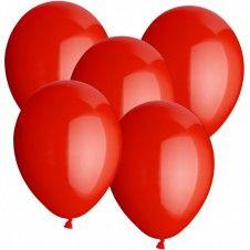 Rote Hochzeitsballons