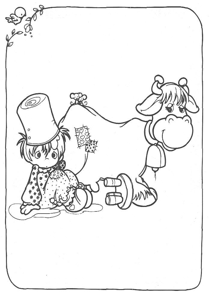 precious moments coloring pages cow - photo#1