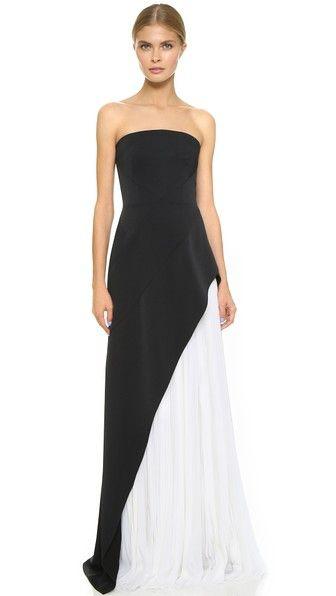 J. Mendel Вечернее платье без бретелек