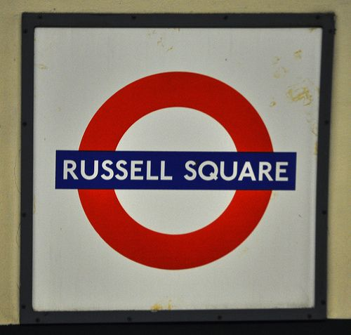 Russell Square London Underground Station in Bloomsbury, Greater London
