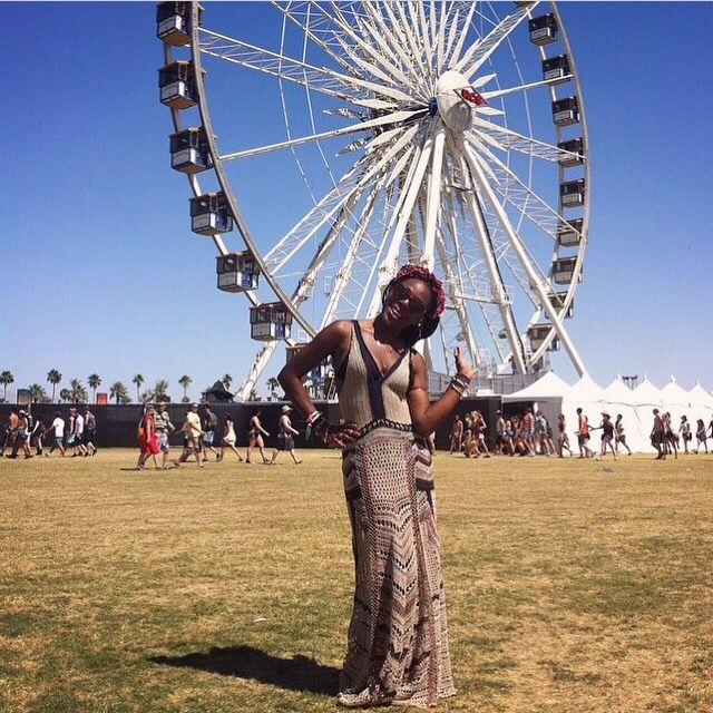 Coachella 2015, Weekend 2, Day 1 #Coachella #CoachellaFashion #FestivalFashion #FerrisWheel